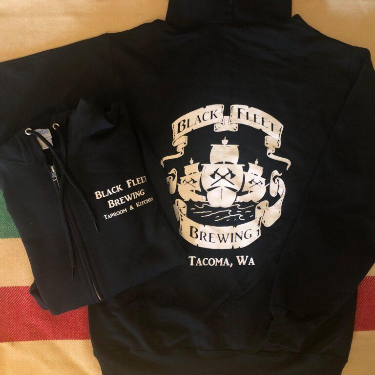 hoodie black zip-up