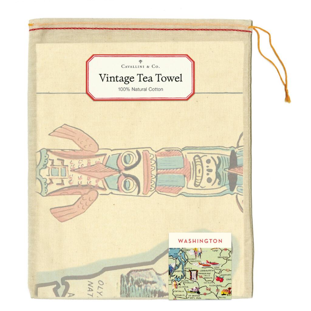 Cavallini & Co Washington Map Tea Towel