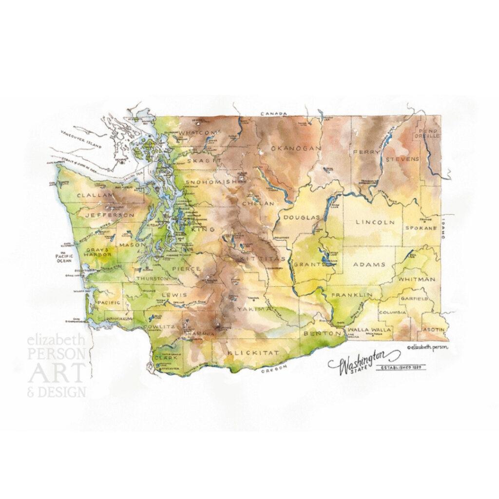 Washington State Greeting Card